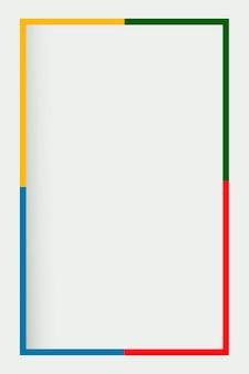 Fundo cinza com borda colorida