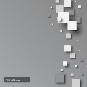 Fundo cinza com pequenos quadrados no estilo 3d
