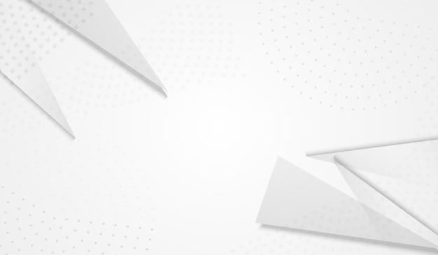 Fundo cinza do vetor do triângulo de luz. decoração mínima. design de elementos modernos transparentes. flyer minimalista.
