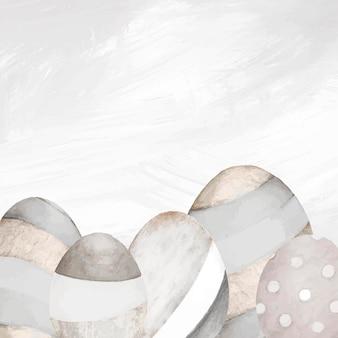 Fundo cinza neutro de ovo de páscoa