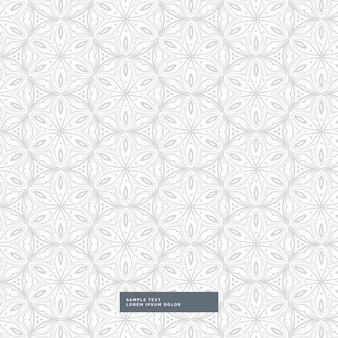 Fundo cinza padrão de estilo floral