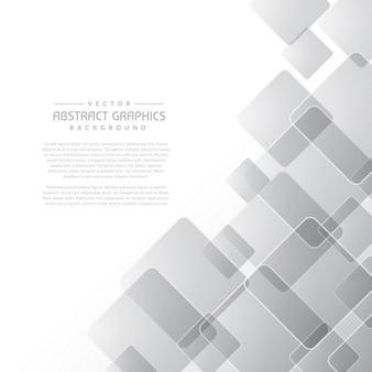 Fundo cinzento abstrato limpo com formas quadradas