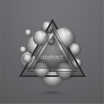 Fundo cinzento com triângulos e círculos
