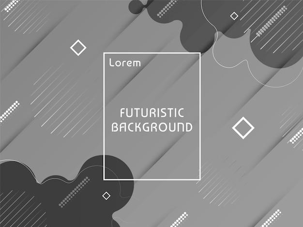 Fundo cinzento futurista moderno abstrato