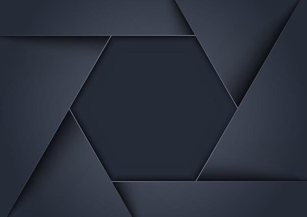 Fundo cinzento metálico formado como forma hexagonal