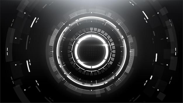 Fundo circular abstrato de tecnologia futurista