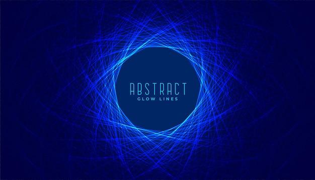 Fundo circular abstrato digital com linhas azuis brilhantes
