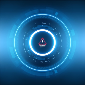 Fundo circular do sumário da tecnologia futurista.