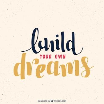 Fundo citações inspiradores sobre sonhos