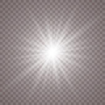 Fundo claro brilhante branco. estrela brilhante. sol brilhando transparente