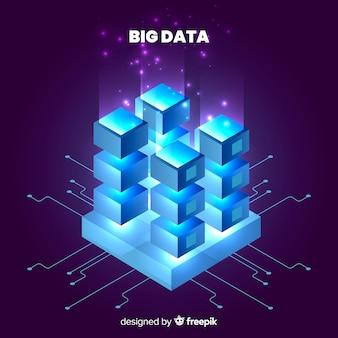 Fundo claro de dados grandes