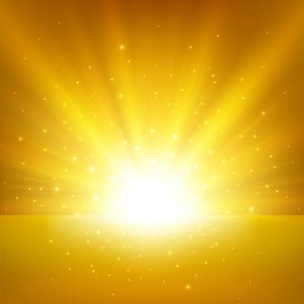 Fundo claro dourado iluminado