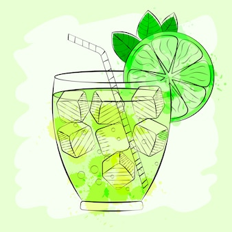 Fundo cocktail tropical