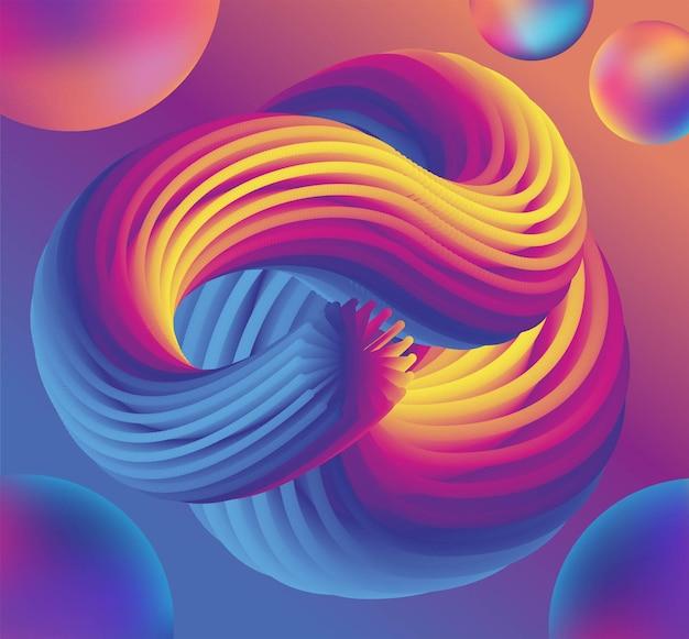 Fundo colorido abstrato com efeito líquido página inicial de forma líquida