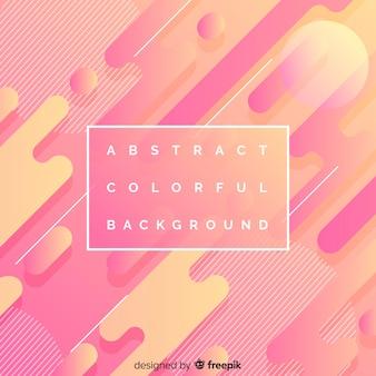 Fundo colorido abstrato com formas geométricas