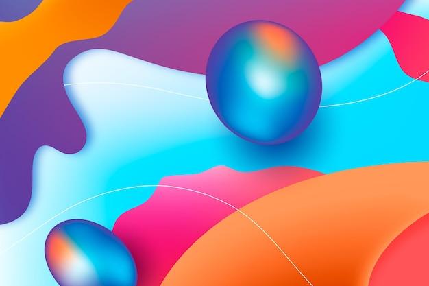 Fundo colorido abstrato com formas