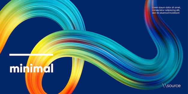 Fundo colorido abstrato da fita 3d