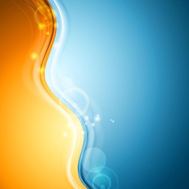 Fundo colorido abstrato das ondas. desenho vetorial