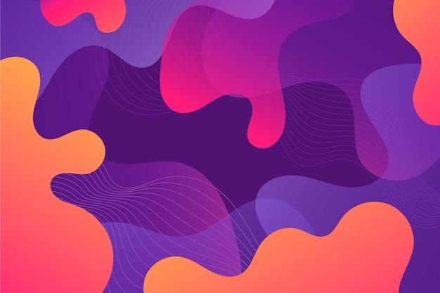 Fundo colorido abstrato de formas de fluxo