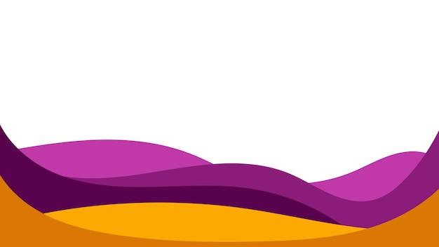 Fundo colorido abstrato de ondas de cor. modelo de folheto, capa ou banner