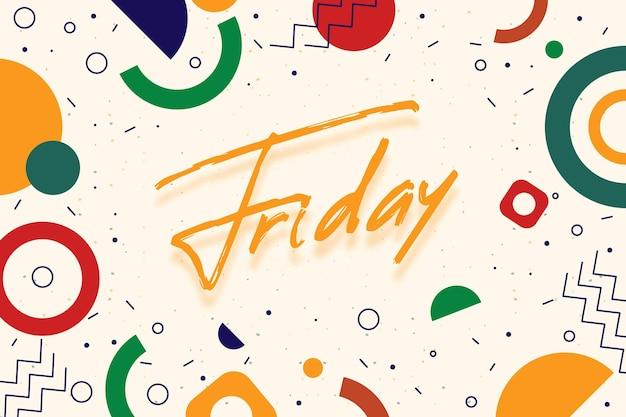 Fundo colorido abstrato de sexta-feira