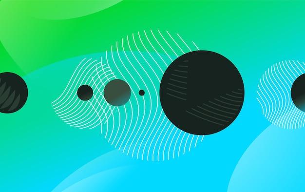 Fundo colorido abstrato de triângulos, círculos e linhas