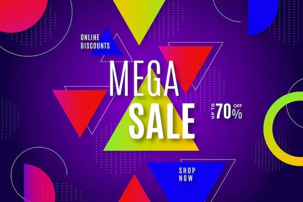 Fundo colorido abstrato de vendas