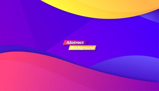 Fundo colorido abstrato do tema onda