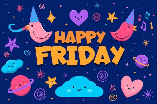 Fundo colorido abstrato feliz sexta-feira