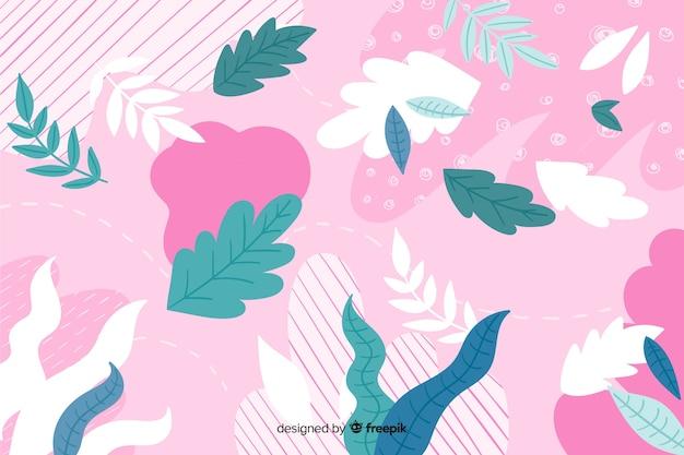 Fundo colorido abstrato floral mão desenhada
