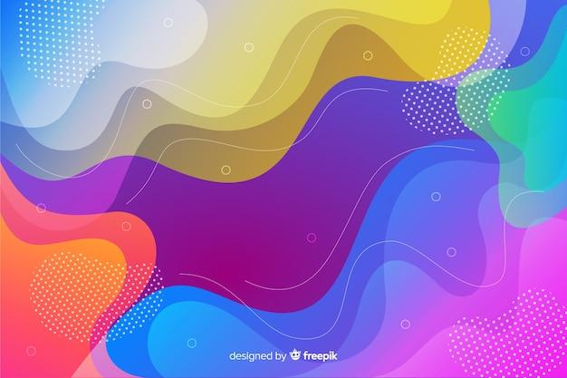 Fundo colorido abstrato formas fluidas