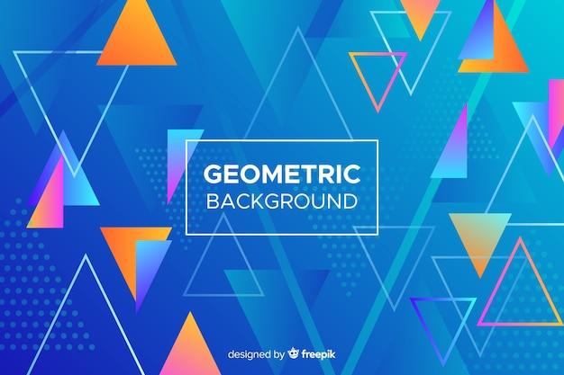 Fundo colorido abstrato formas geométricas