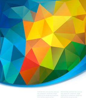 Fundo colorido abstrato. ilustração vetorial