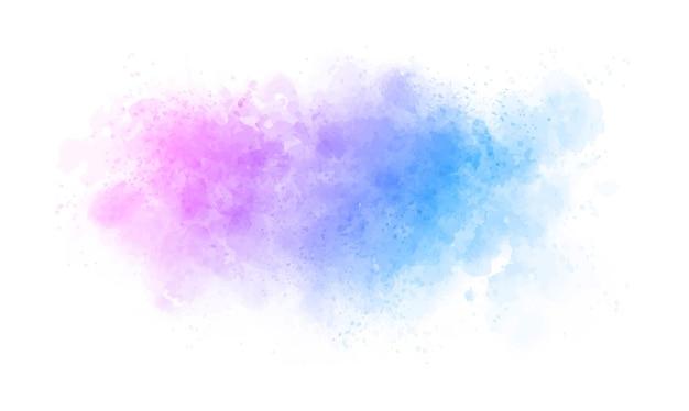 Fundo colorido abstrato manchado de aquarela
