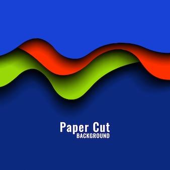 Fundo colorido abstrato papercut