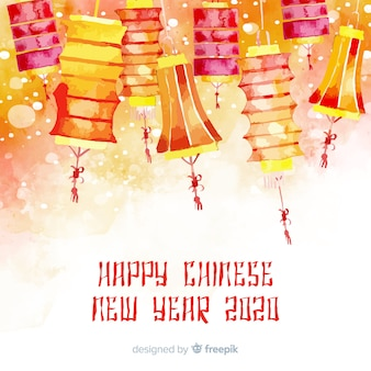 Fundo colorido ano novo chinês