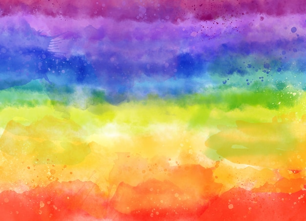 Fundo colorido aquarela arco-íris