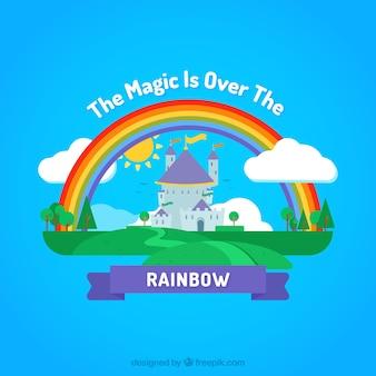 Fundo colorido arco-íris