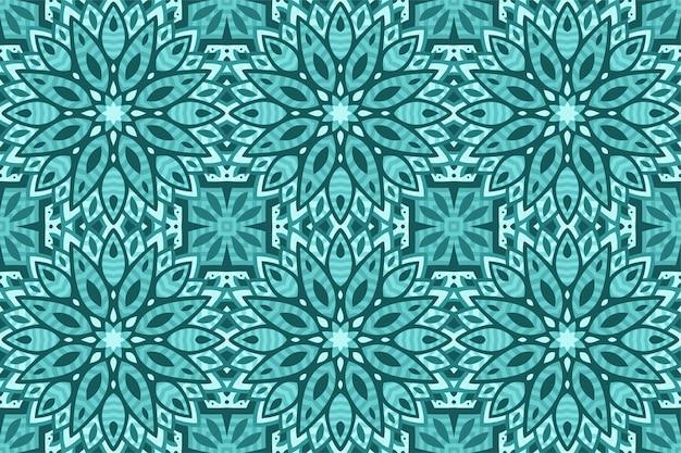 Fundo colorido bonito com padrão de azulejo sem costura azul abstrato