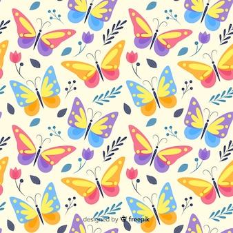 Fundo colorido borboleta