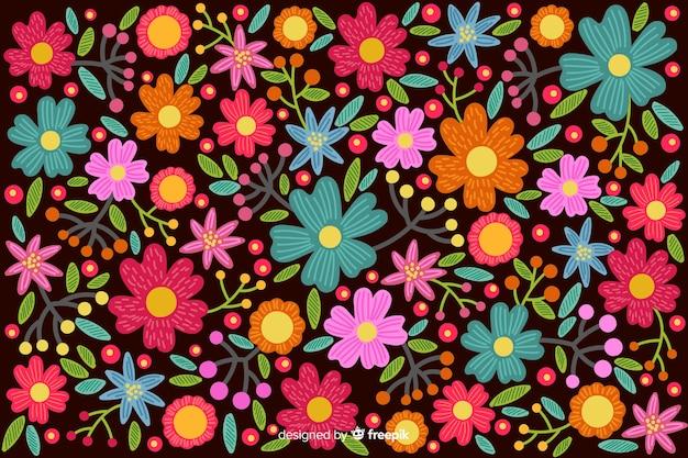 Fundo colorido bordado mexicano