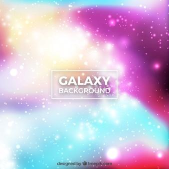 Fundo colorido borrado de galáxias