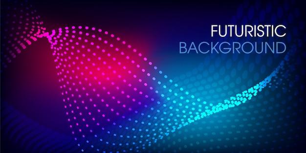 Fundo colorido brilhante design futurista