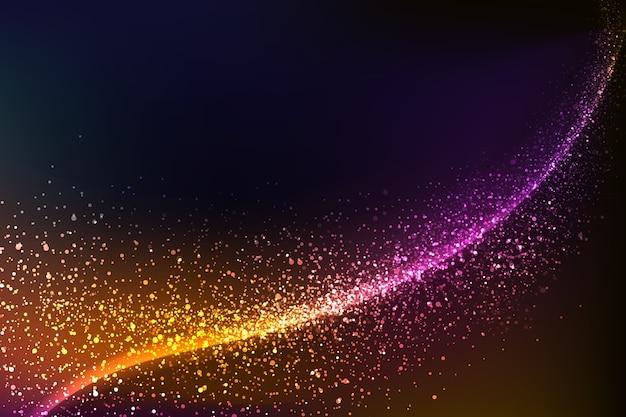 Fundo colorido brilhante onda