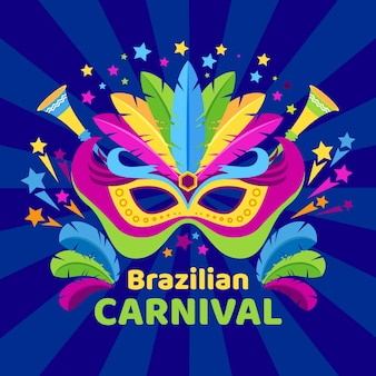 Fundo colorido carnaval brasileiro