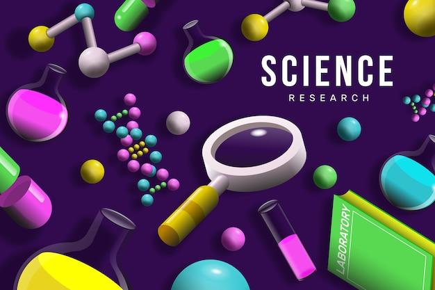Fundo colorido ciência realista
