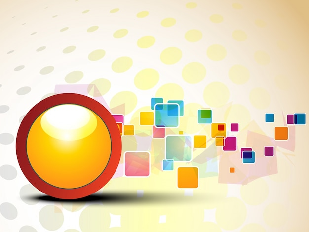 Fundo colorido com círculo e retângulos