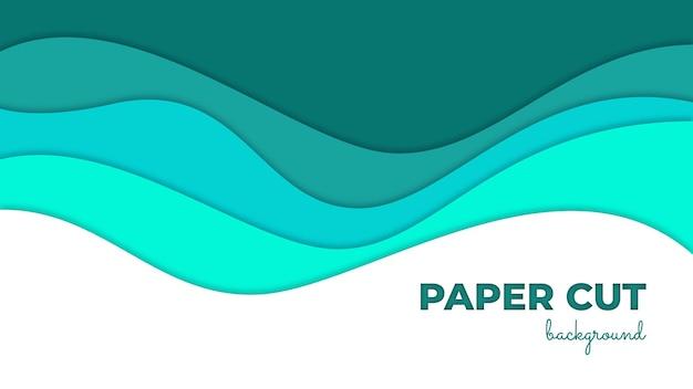 Fundo colorido com corte de papel ondulado