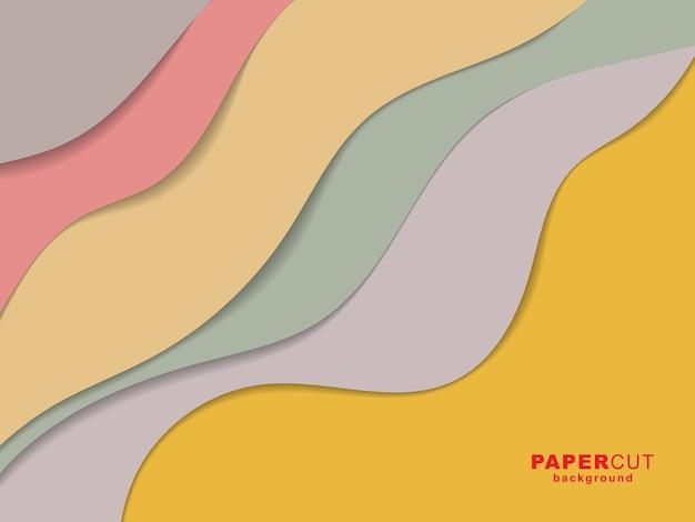 Fundo colorido com desenho de corte de papel