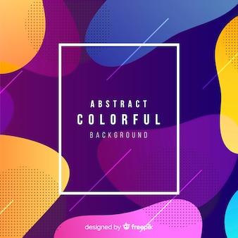Fundo colorido com design abstrato